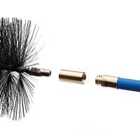 ユニバーサルロッド(C)とワイヤーブラシ(A)を接続するのに必要となる部品。  ●材質:真鍮