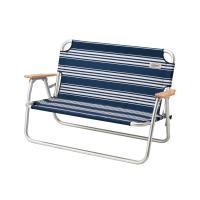 アルミフレームで軽量なベンチ 2人座れるゆったりサイズ  ■安定感あるフレーム構造の2人掛けベンチ ...