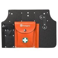 ツールキャリヤー(腰下げ) 大きなポケットは救急セット、予備のチェンや キャブドライバーを入れるのに...
