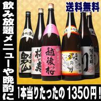 お歳暮 御歳暮 ギフト 2021年 お酒 日本酒 お酒 飲み比べ 全国 酒どころの 地酒 飲み放題 6本 セット 1.8 1800ml 一升瓶 飲み比べ 送料無料