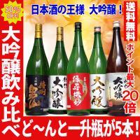 クーポン対象 日本酒 日本酒 飲み比べ 飲み比べ 大吟醸 5本 セット 半額 夢の大吟醸 一升瓶 1800ml
