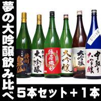 一升瓶が6本! お歳暮 45%OFF 日本酒 夢の大吟醸5本セット+1 6本セット エクストラセット  お酒 のし可能 福袋 一升瓶 1.8L 送料無料