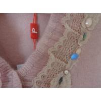 カシミヤ100%、レース・花・ビーズ飾り、フリルVネックデザインセーター