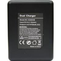 NinoLite  Insta360 ONE X 対応 3点セット: AB-12 大容量バッテリー 2個 + USB型 充電器 (同時にバッテリー2個充電可) アクションカメラ専用|mixy4|05