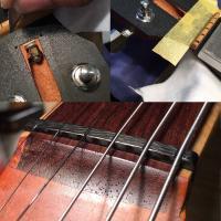 【メニュー内容】弦高・ロッド・オクターブ調整+フレットクリーニング+ナット・フレット・PU高調整、指...