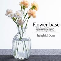 【50%OFFアウトレットセール】花瓶 ガラス 一輪挿し おしゃれ フラワーベース 小さい かわいい クリア 北欧 円柱 送料無料