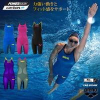 ■POWERSKIN CARBON-AIR レディスハーフスパッツオープンバック競泳水着  ■カラー...