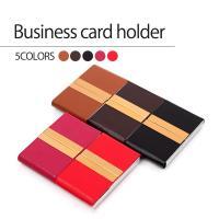 送料無料 ビジネスにオススメ、名刺ケース レッド赤 ピンク ブラウン ダークブラウン ブラック黒  ...