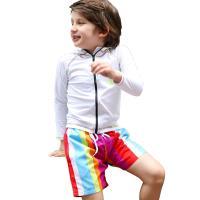 メール便送料無料 水着 子ども用 男児 男子 トランクス  とっても鮮やかな配色が夏のビーチにぴった...