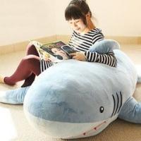 手触りふわふわ ビッグサイズ サメのぬいぐるみ 167cm 特大 巨大 クリスマスプレゼント 子供 ...