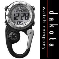 ☆☆ダコタのコンパス付きクリップ時計です☆☆ ゴルフなどのお供に♪ 【商品説明】 ■ムーングロウEL...
