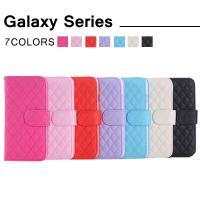 送料無料 GalaxyS6/GalaxyS5対応 手帳型 横開き 耐衝撃 レザーケース 耐衝撃 カー...
