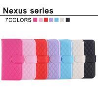 送料無料 Nexus5 対応 手帳型 横開き 耐衝撃 レザーケース 耐衝撃 カードホルダー リボン ...