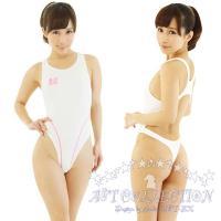 ★★薄々競泳水着★★ KA0081WH  大人気の水着がリニューアル! 真っ白生地にピンクのラインが...