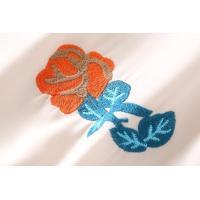 シフォン ワンピース 7分袖 レディース 花柄 刺繍 薄手 エレガント ラウンドネック パーティー シフォンワンピー ミ
