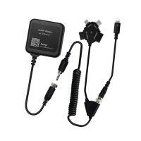「AC充電器+カールコードコネクタ」NIIセットiPhone7対応、ほぼ全てのモバイルに充電可能!!...