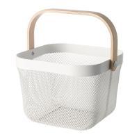 IKEA イケア RISATORP リーサトルプ  バスケット ホワイト( 702.816.19 )