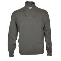 [BRUNELLO CUCINELLI] セーター 襟元のボタンが特徴的なカシミヤセーターです。ボタ...