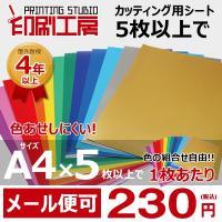 屋外耐候5年のカッティング用シート  カッティング用シート1枚バラ売り A4サイズ(220mm×30...