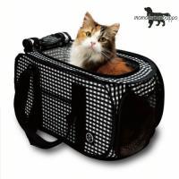 猫壱 ポータブル キャリー(黒) ●軽くて持ちやすいキャリーです。猫にストレスを与えない狭すぎず広す...