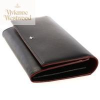 財布 ヴィヴィアン ウエストウッド Vivienne Westwood   SIMPLE TINY ORB F付長財布 ヴィヴィアン ウエストウッド ブラックレッド