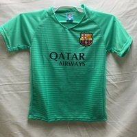 2f4dda8e1afc90 子供用 K134 バルセロナ メロン 17 ゲームシャツ パンツ付 ジュニア ユニフォーム