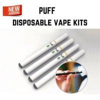 コンパクトサイズの使い捨て電子タバコ・5本セットです。それぞれ透明なケースに入っています。上部[Pu...
