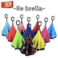 [Rebrella] 傘革命! 傘 逆さ 濡れない 長傘 逆さまの傘 オシャレ 超撥水 グラスファイ...
