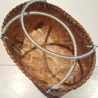 台湾カゴ・Sサイズ・持ち手付きカゴ・竹製