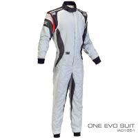 レーシングスーツ OMP ONE EVO SUIT FIA8856-2000公認 White/ Black/ 本国取り寄せ品 Red