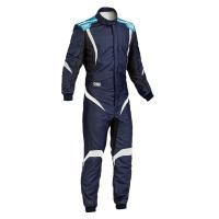 OMP ONE S1 レーシングスーツ ネイビー ブルー/シアン (NAVY BLUE/CYAN) FIA8856-2000公認|monocolle