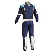 OMP ONE S1 レーシングスーツ ネイビー ブルー/シアン (NAVY BLUE/CYAN) FIA8856-2000公認|monocolle|02