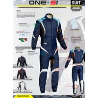 OMP ONE S1 レーシングスーツ ネイビー ブルー/シアン (NAVY BLUE/CYAN) FIA8856-2000公認|monocolle|04