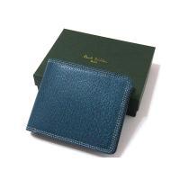 ポールスミス Paul Smith 財布 2つ折り 本革 レザー 正規品 箱付き   全体にホワイト...