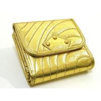 Paul Smithポールスミス牛革レザー折りたたみがま口財布です。 コイン入れ×2、カード入れ×7...