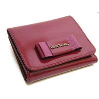 送料無料Paul Smithポールスミス牛革パテントレザー(エナメル)折りたたみ財布未使用正規品PS289