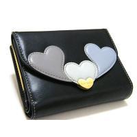 Paul Smithポールスミス牛革レザー折りたたみがま口財布です。 コイン入れ×2、カード入れ×1...