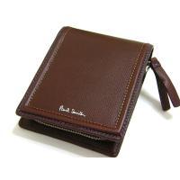 ポールスミス Paul Smith 財布 2つ折り 牛革 レザー 正規品      小銭入れ×2、カ...