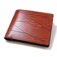 ポールスミス Paul Smith 財布 2つ折り 牛革 羊革 レザー 正規品     小銭入れ×2...