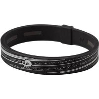 ファイテン(phiten) ブレスレット RAKUWA ブレスS シリコーン スラッシュライン ラメタイプ ブラック/グレー 17cm