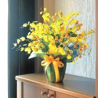アートフラワーアレンジメント(光触媒造花)光の楽園 ゴールドストライク、あすつく・条件付