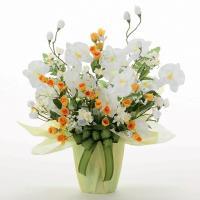 ■アートフラワー(光触媒造花)光の楽園 メローホワイトは、お部屋のアクセントや空間に彩りを添え、空気...