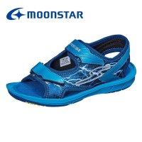 バネのチカラ [セール] 子供靴 ジュニアサンダル 男の子 ムーンスター スーパースター SS S910 ブルー