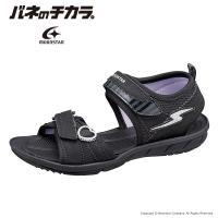 バネのチカラ [セール] ムーンスター スーパースター 子供靴 ジュニアサンダル 女子 SS S983 ブラック moonstar