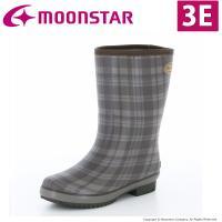 「ムーンスター」の女性用ラバーブーツです。広い胴回りで脱ぎ履きしやすく、3Eのワイド設計です。上品な...