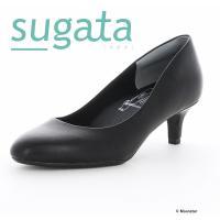 【ラクに歩けて、うつくしい。】をキーワードに開発されたパンプス【SUGATA】シリーズ。中央部のくぼ...