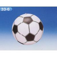ビーチボールサッカー (膨らます前のたたんだ状態で最長35cm)   材質:PVC    食品衛生法...