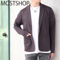 メンズテーラードジャケット 襟元がすっきりとしたTC天竺カットソー素材のテーラードジャケット。 さら...