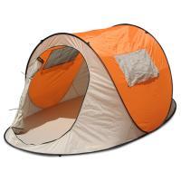 面倒な組立てが不要なワンタッチテントです。ふちをつまみ上げれば、簡単テントの完成です。キャリーバッ...