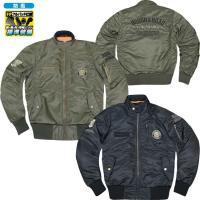 MA-1ジャケットをラフ&ロード流にライディングジャケットへアレンジ。 胸、肩、肘、脊椎パッドを標準...